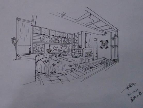 您现在的位置 > 首页 > 学生作品 学生作品 卧室(手绘效果图)