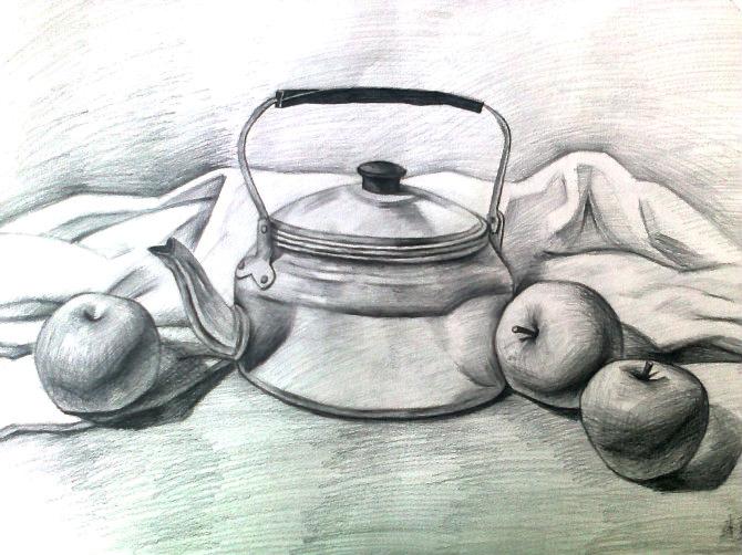 初中生美术简笔画